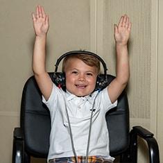 Child hearing exam