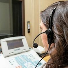 Hearing exam at Best Life Hearing Center