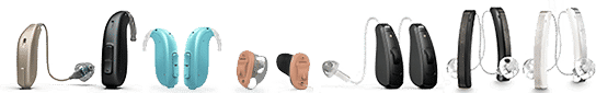 Hearing Aids line up at Best Life Hearing Aid Center