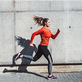 Woman jogging in Wallingford, CT